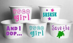 VSCO Girls Party Cups Birthday SET/12 Food Bowls Ice Cream
