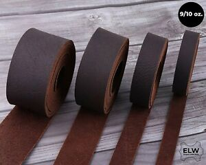 ELW Brown Tooling Leather Straps 1 2quot; to 4quot; Wide 68 72 Inches Long 9 10 oz...