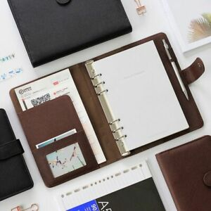 Portable Cover Detachable Buckled Ring Notebook Business Office Note Planner New