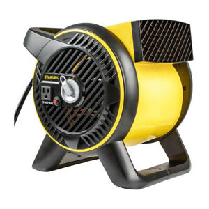 Stanley 3 Speed High Velocity Pivoting Durable Utility Fan w/Outlet, 12 Inch