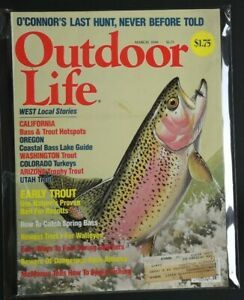 💎OUTDOOR LIFE FEB 1988 BASS TROPHY TROUT COUGARS AFRICA HUNT BEAR BIG GAME💎