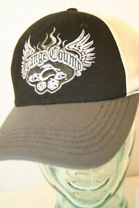 Orange County Choppers Dice Black Gray Ivory Fitted stretchy Dad truck cap hat $39.95