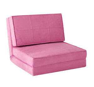 Flip Out Convertible Sleeper Bed Chair Sofa Folding Couch Cushion Lounger Pink