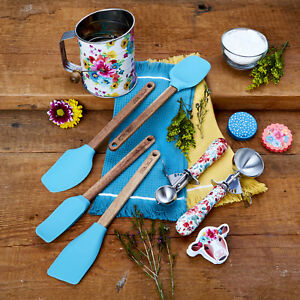 The Pioneer Woman Spring Baking Utensil Prep Set Home Kitchen Teal 10-Piece New
