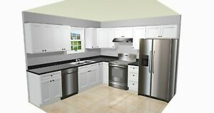 10X10  NEW RTA KITCHEN CABINETS SOLID WOOD SHAKER STYLE NEW