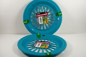 Paper Plater Holder Teal Picnic Camping RVs BBQ Parties Patio Set of 8 FREE SHIP