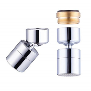 Waternymph 1.8GPM Kitchen Sink Aerator Solid Brass - Big Angle Swivel Faucet 2 -