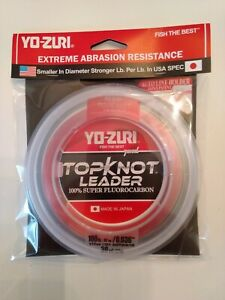 YO ZURI TOPKNOT LEADER SUPER FLUOROCARBON 100lb 30yd R1236 DP disappearing pink