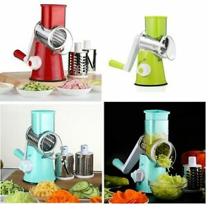 Multi-function Drum Rotary Grater Manual Coleslaw Slicer Cheese Vegetable Cutter