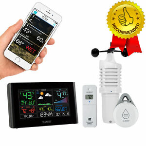 Weather Station Professional Remote Monitoring LCD WiFi + BONUS Leak Sensor NEW