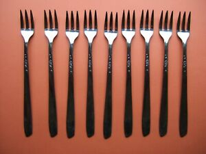 Oneida Stainless 'Spice' Cocktail/Seafood Forks - Set of 9