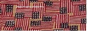 NEW Longaberger SEWING NOTIONS Basket LINER in OLD GLORY FLAG Fabric in Orig Bag $13.89
