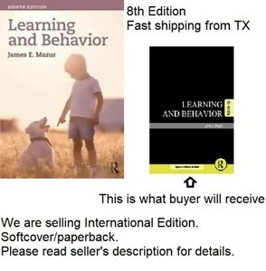 Learning and Behavior by James E. Mazur