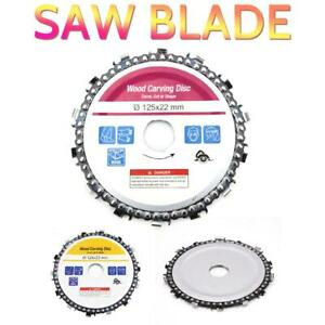 5'' 14 Tooth Angle Grinder Chain Disc Saw Blade 125mm for Carving Culpting Wood