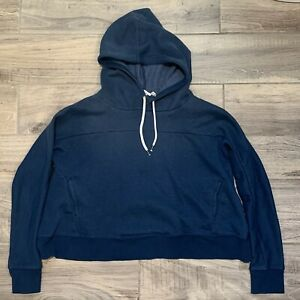Out From Under Womens Cropped Pullover Hoodie. Sz Small $29.99 Blue Pre owned $15.00