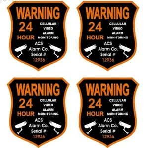 4 PCS Home CCTV Surveillance Security Camera Video Sticker Warning Decal Signs