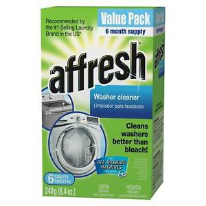 Finally Fresh Washer Machine Cleaner 6 Tablets, White, 6 Count New Pack Washing
