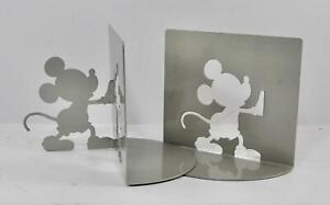 MICHAEL GRAVES Designer for Zak Designs Mickey Mouse Gray Metal Bookends