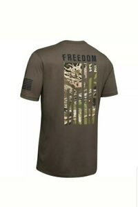 Under Armour 1343564 Men's UA Freedom Flag Camo Hunting Short Sleeve Size MEDIUM $20.10