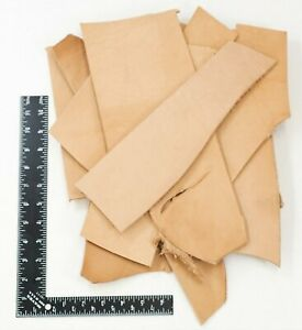 2LB Vegetable Tan Tooling Cowhide Leather Scraps 6 10 oz. Thickness Pieces