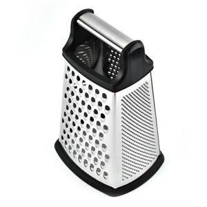 4 Sided Stainless Steel Large 9-inch Grater Handheld Grater Slicer Kitchen Tools