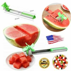 Watermelon Slicer Cutter Windmill Fruit Melon Cutting Watermelon Kitchen Tool US