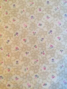 * 44quot; * JOANN FABRICS * FLORAL * ANTIQUE * ON BEIGE * 3.8 UNCUT YDS * $32.00