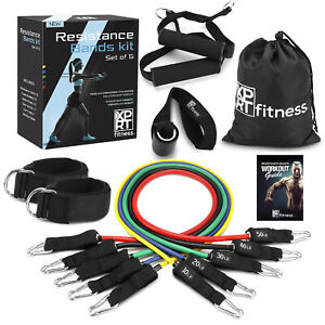 XPRT Fitness 11 PCS Resistance Bands Set Home Gym Exercise Tube Bands Training $26.99