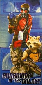 Guardians of the Galaxy Beach Towel  measures 28 x 58 inches