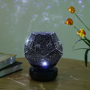 bluetooth Music Night Light LED Star Projector Lamp Kid Room w/ Remote Charging