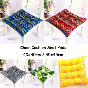 15.8in / 17.7in Soft Chair Seat Cushion Pads Square Flax Tatami Mats Office Home