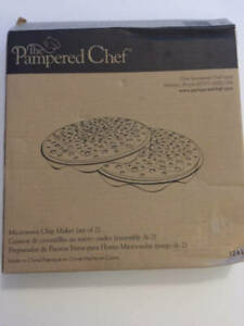 Pampered Chef Microwave Chip Maker (set Of 2 racks) New