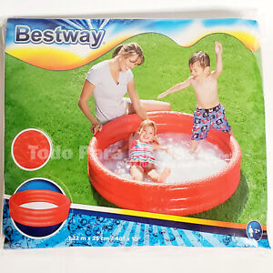 Childrens Inflatable Pool 48x10 Kids Swimming Pools Outdoor Water Fun Play