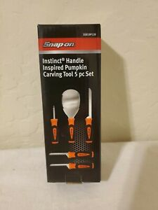 Snap On Tools New In Box Instinct Handle Inspired Pumpkin Carving Tool 5 Pc Set $20.99