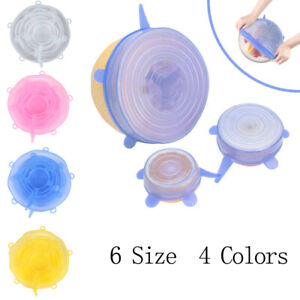 Stretchable Silicone Lid Set Fresh-keeping Cover Cover Reusable stre liVGUSSJIJ