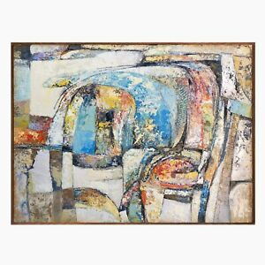 Original Abstract Expression Contemporary Modernist Oil Painting Daniel Hukill $1,200.00