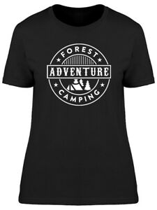 Forest Adventure Camping Graphic Tee Women#x27;s Image by Shutterstock