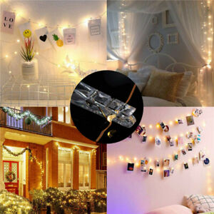 50 LED 5M10M Photo Clip String Lights Battery Operated for Bedroom Hanging Cards