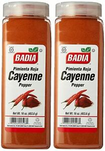 Badia Spices Cayenne Pepper Ground Powder 2 pack 16 Oz ea big plastic bottles