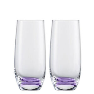 Glass set tumblers purple discontinued jessica tumblers by Eisch 2ct 5quot;