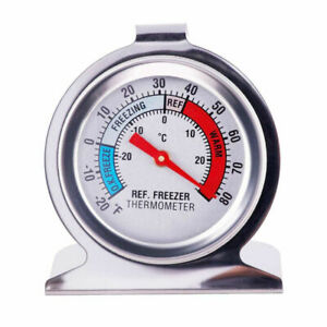 Stainless Steel Fridge Freezer Dial Thermometer Temperature Gauge Stands