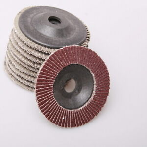 10x 8 Grit Sanding Discs Grinding Wheel Angle Grinder Rotary Tool For Finishing