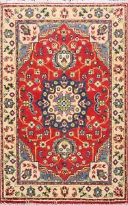 Floral RED/ IVORY Super Kazak Oriental Area Rug Wool Hand-Knotted Home Decor 2x3