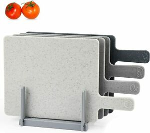 Chopping Board Set for Kitchen Holder, Index Small Cutting Board Easy-Grip