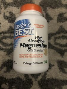 Doctor's Best High Absorption Magnesium 100% Chelated w Albion 240 Tablets