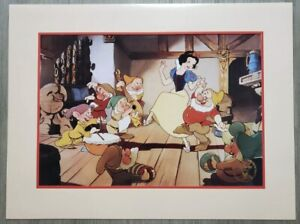 1994 Disney Store Exclusive Commemorative Lithograph Snow White & The 7 Dwarves