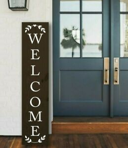 Welcome Sign Decal in White - Free Shipping!