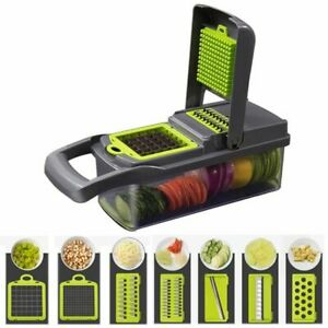 Vegetable Mandoline Slicer Kitchen Cutter Food Onion Dicer Fruit Veggie Chopper+