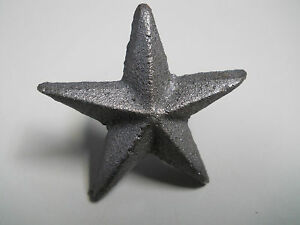 50 Cast Iron Nail Stars Architectural Washer Tacks Texas Lone Star Rustic Ranch