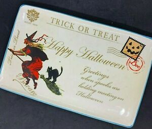 2011 Hobby Lobby Happy Halloween Witch Greetings Serving Platter Food Safe